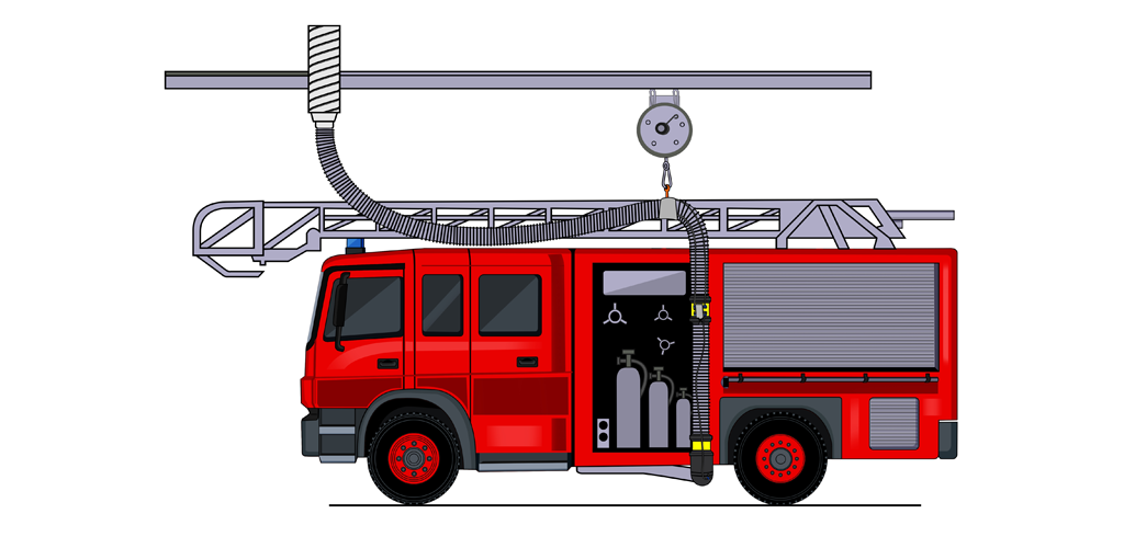 Abgasabsaugung für Einsatzfahrzeuge